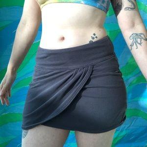 free people grey stretch soft basic mini skirt